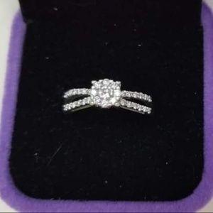14kt white gold .45 carat diamond ring